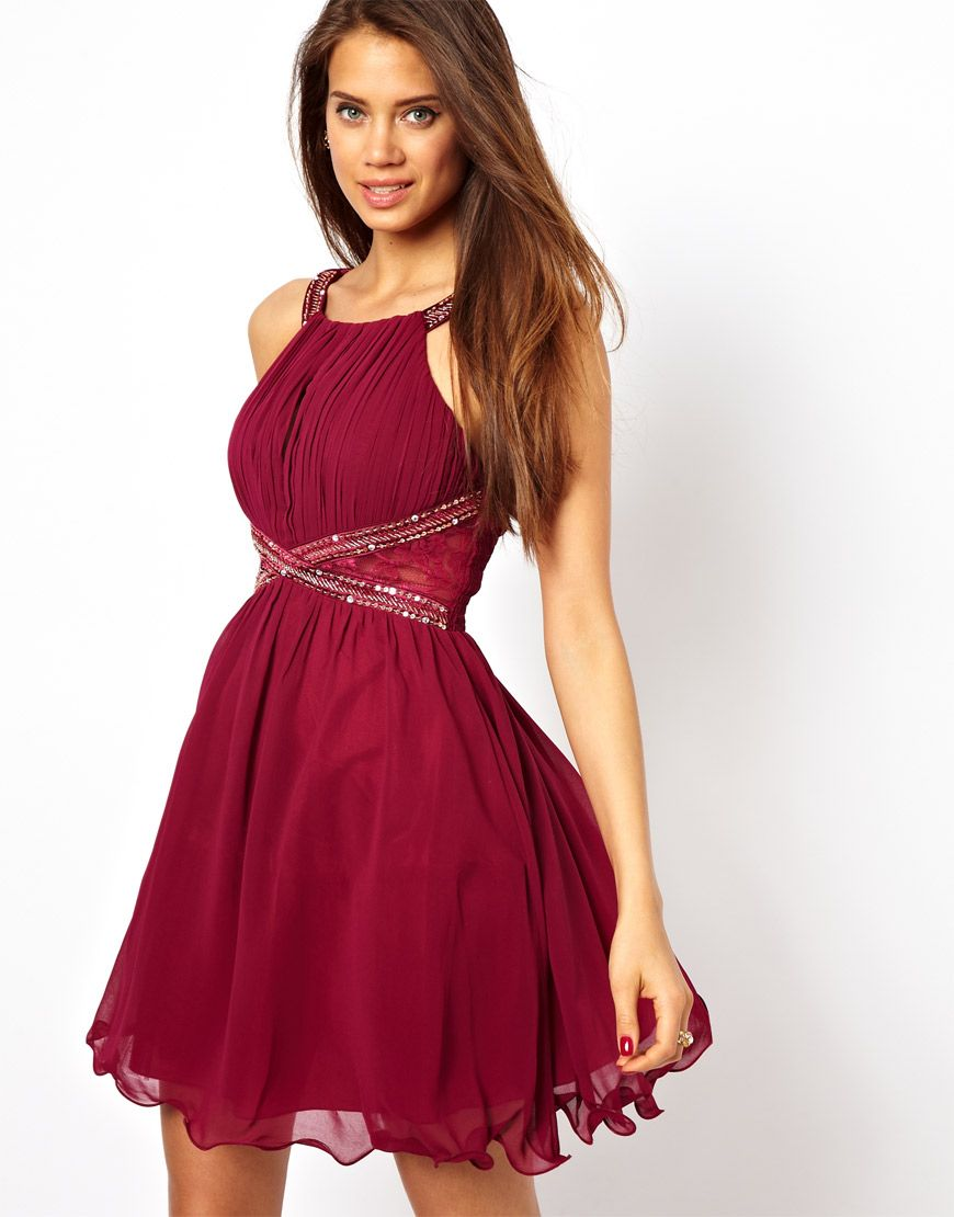 Little Mistress Embellished Prom Dress / ASOS | Dress & Gown ...