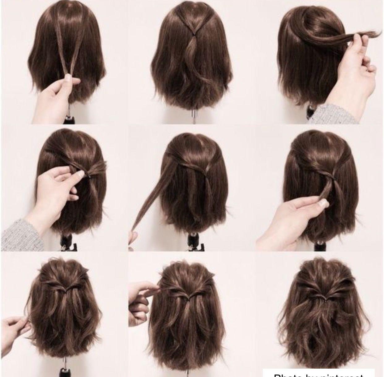 Http Niffler Elm Tumblr Com Post 157400903821 Short Curly Weave Hairstyles For Women Short Penteados Penteado Cabelo Curto Cabelo Penteado