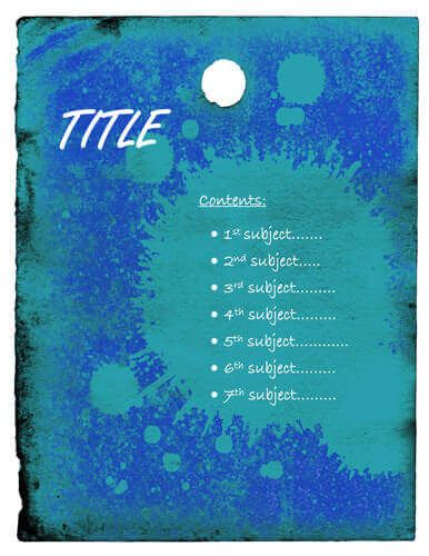 Blue splash cover page Quadratic Equations Pinterest Template