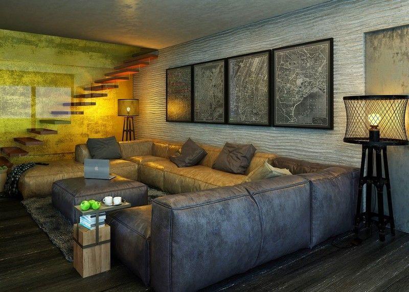 Wohnzimmer Im Industrie Stil Gestalten