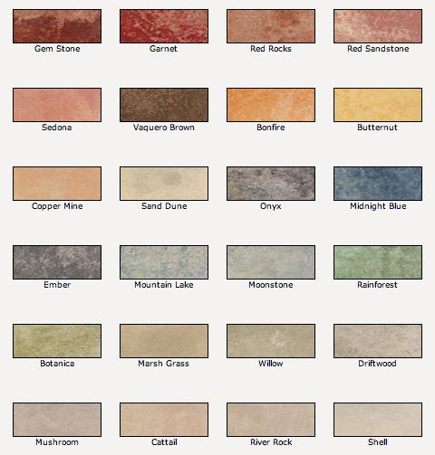 Valspar Semi-Transparent Concrete Stain colors for a natural stone