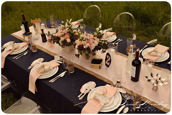 Blush Amp Blueberry Pink Amp Navy Blue Reception Decor La