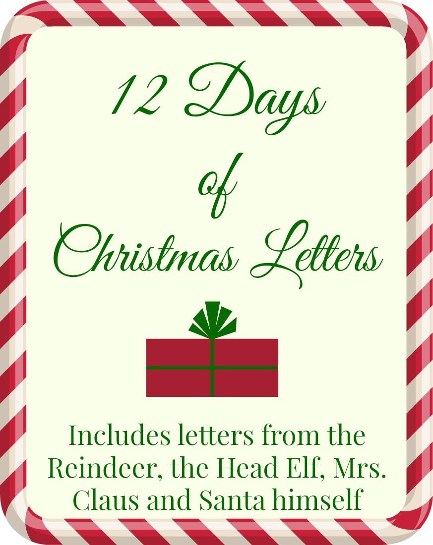 free printable 12 days of christmas letters printable letters