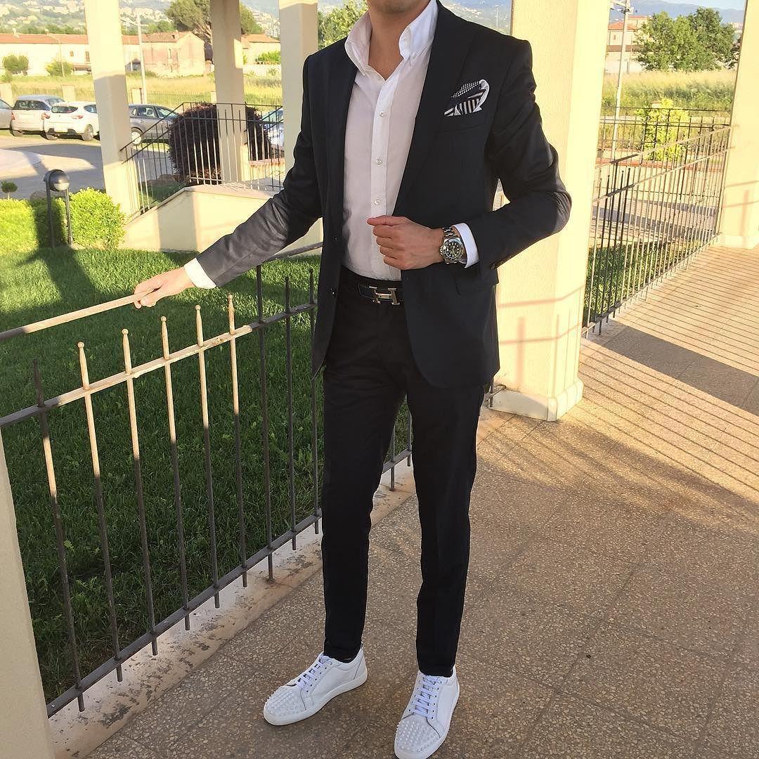 O U T F I T Christian Louboutin Junior Spikes Brioni Trouser With