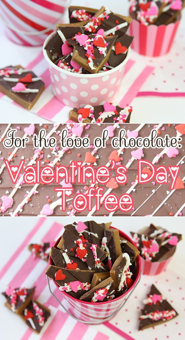 Valentine's Day Toffee Homemade Valentine's Day Toffee from @Courtney Baker Whitmore {}!Homemade Valentine's Day Toffee from @Courtney Baker Whitmore {}!