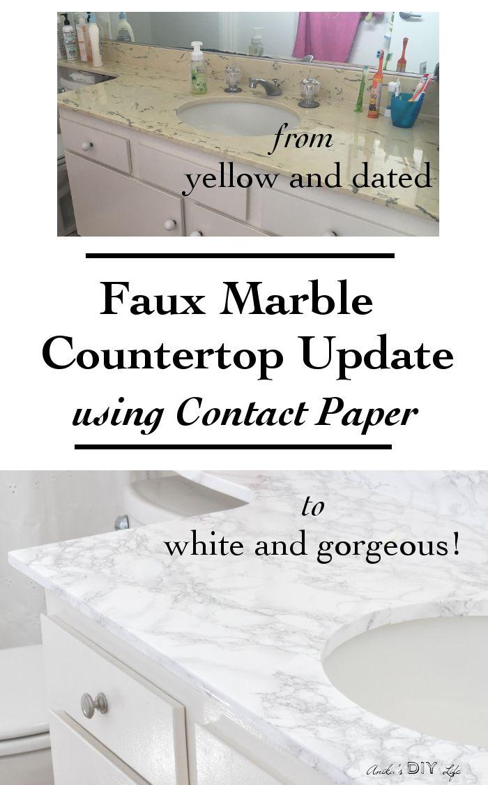 DIY Faux Marble Countertop Update - Anika's DIY Life