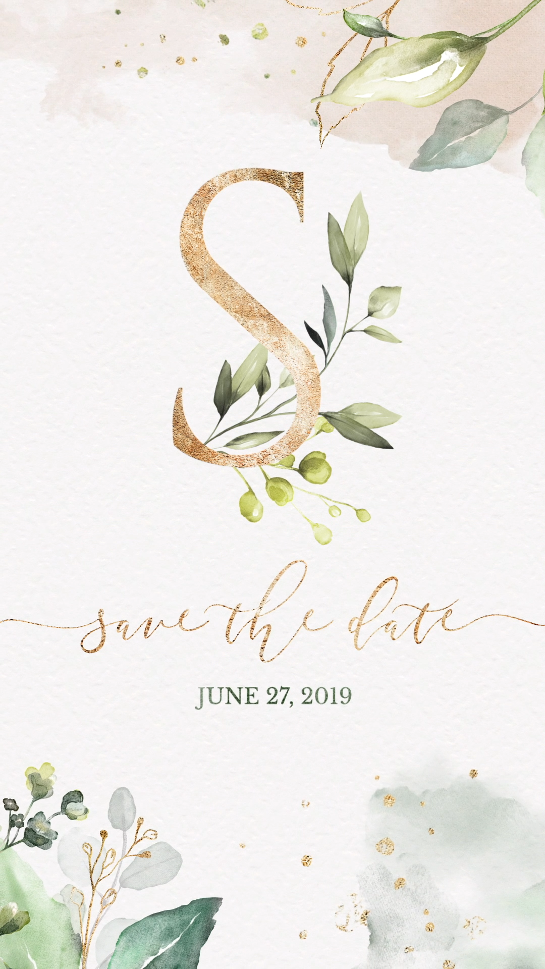 Unique Watercolor Greenery Wedding Invitation Video. This Elegant save the date is perfect to invite your guests to your rustic wedding with an email Save the Date. Pin This + Click Through to See more digital save the date! #weddinginvites #greenerywedding #rusticweddinginvitations #Rusticwedding #countrywedding