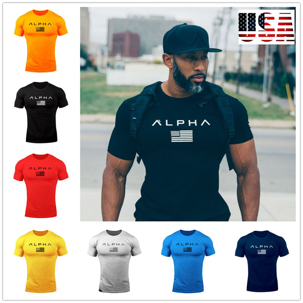 Versus Mens Gym T-Shirt Fitness Training Bodybuilding Top Versus Vs Clothing Tee
