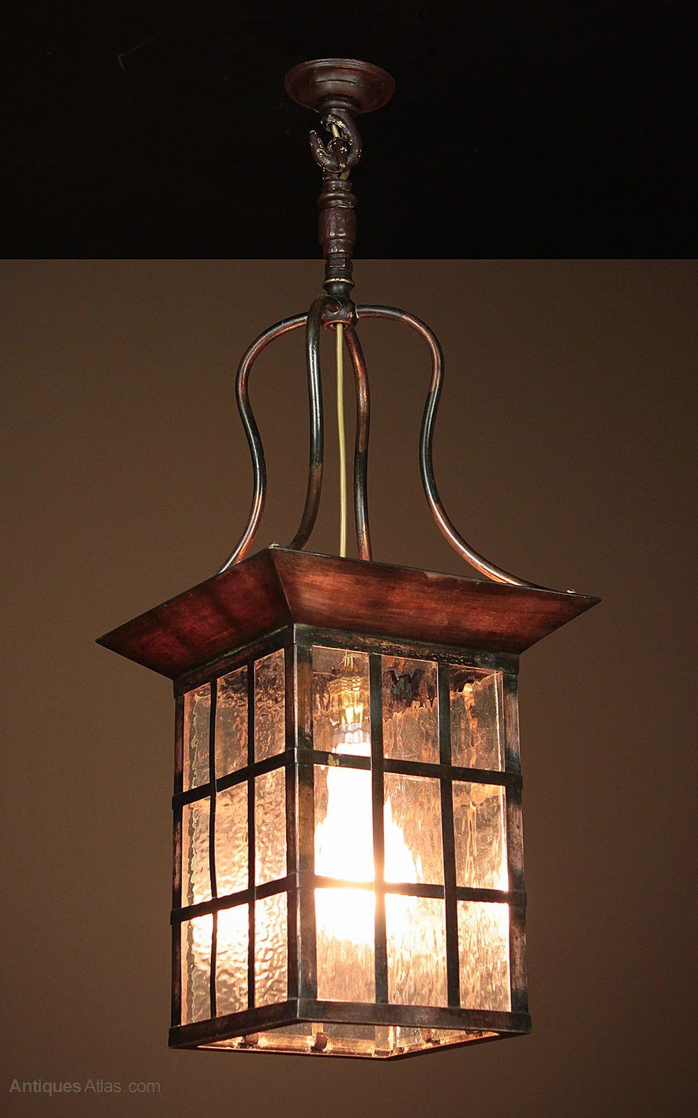 Arts Crafts Style Copper Lantern Or Porch Light Porch Light Fixtures Porch Light Bulb Hanging Porch Lights