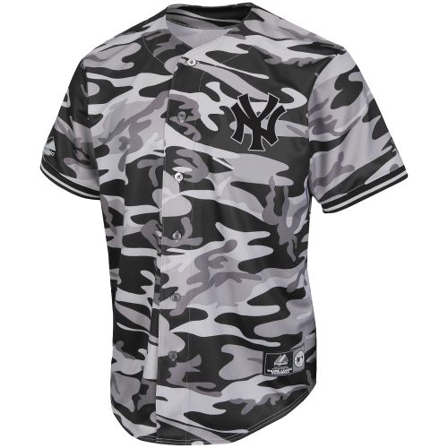 the latest 8036a b4a86 New York Yankees Black Camo Fashion Jersey – Black | Yankees ...
