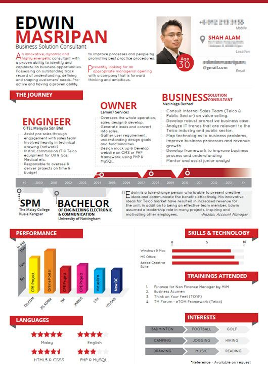 Resume Is Made Into Infographic  Noktahhitam    Cv