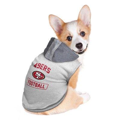 8dadc58da NFL San Francisco 49ers Pet Hooded Crewneck Shirt - XX Large ...