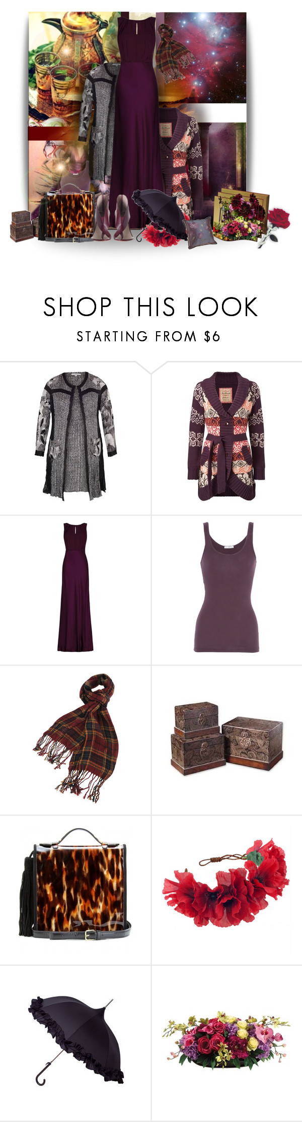 """Untitled #496"" by wildnature ❤ liked on Polyvore featuring Chesca, Joe Browns, Ghost, James Perse, Forever 21, Dries Van Noten, Rock 'N Rose, Allstate Floral, aNYthing and Zimmermann"