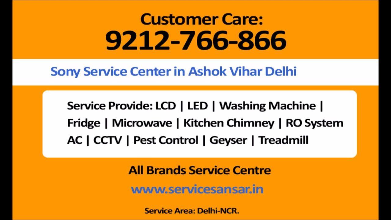 Sony Service Center in Ashok Vihar Delhi-9212766866