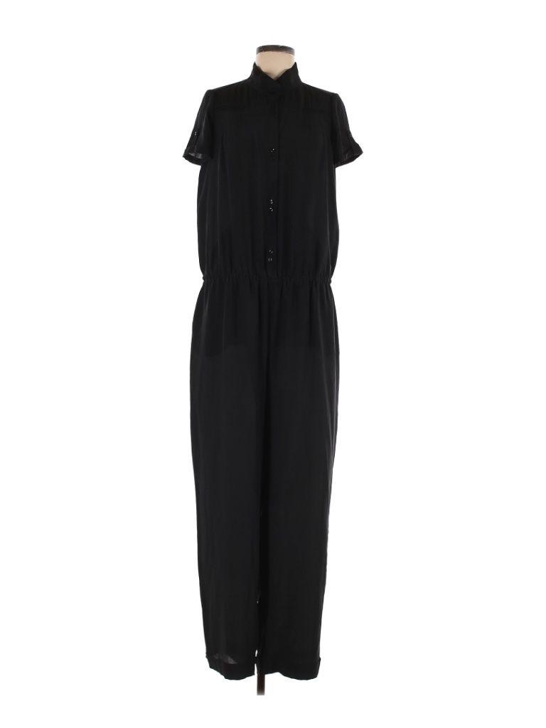 Vanessa Bruno Athe Jumpsuit Size: 40 Dresses - used. 100% Silk, Solid | Vanessa Bruno Athe Jumpsuit: Black Solid Jumpsuits - Size 40