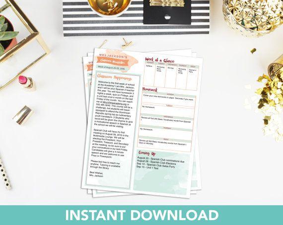 Classroom Newsletter Template Teacher Newsletter Template Class