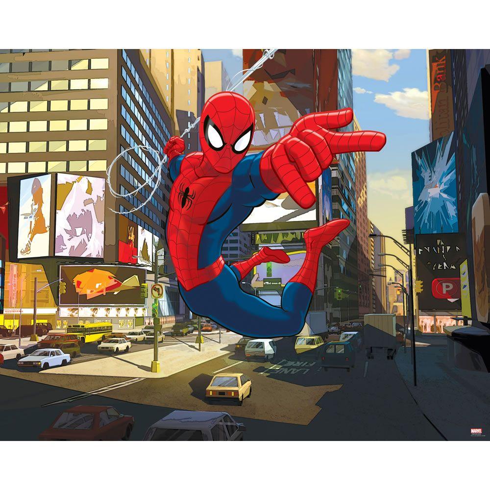 Best Walltastic Ultimate Spider Man Wallpaper Mural 8Ft X 10Ft 400 x 300