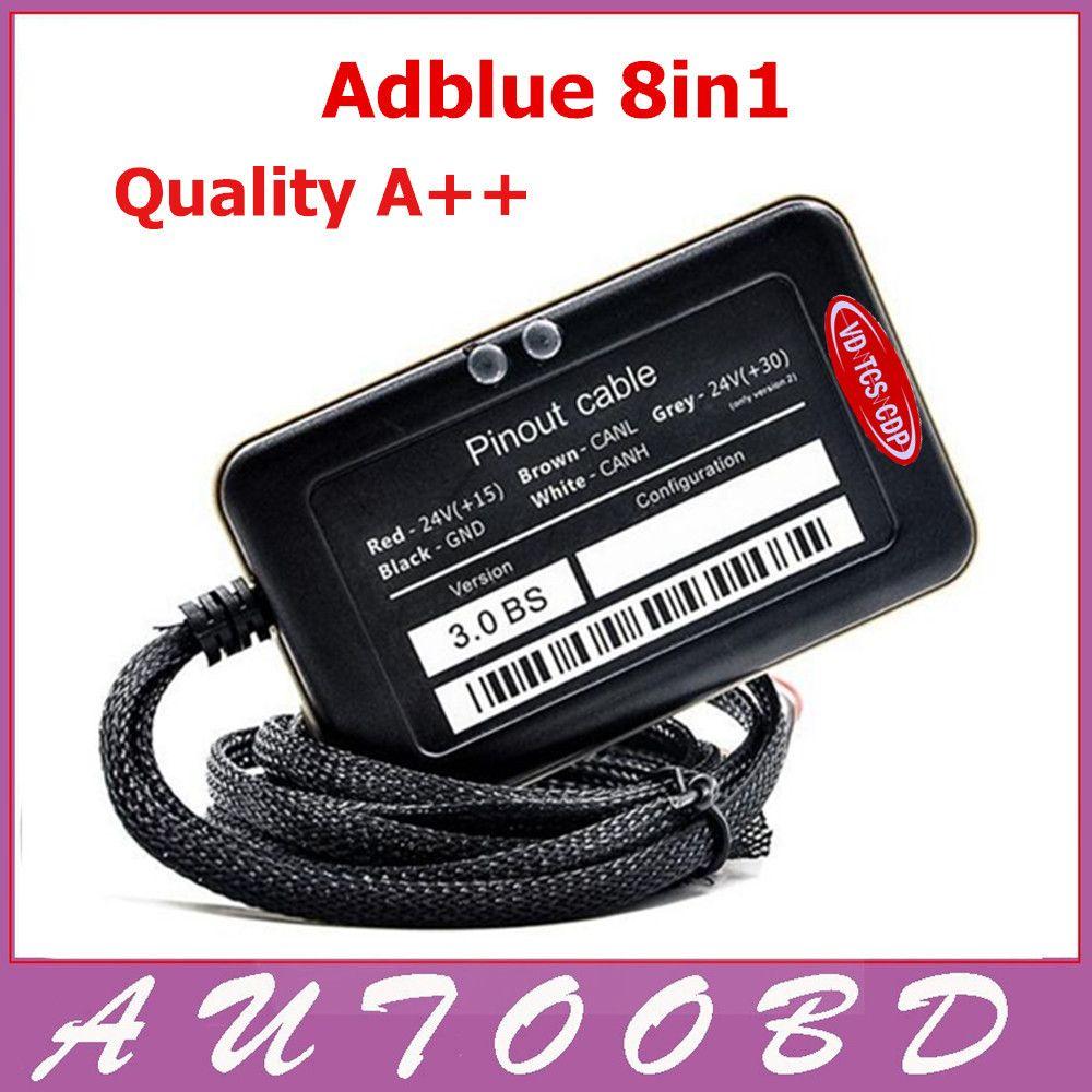 2PCS A+Quality Adblue Emulator 8 in 1 V3 0 with NOx sensor