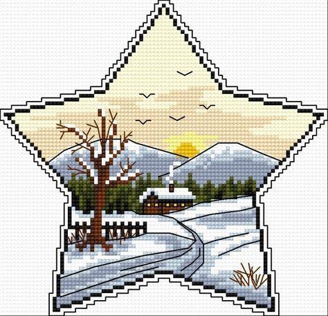 Winter star 2 http://www.cross-stitch-patterns.eu/big.php?id=950
