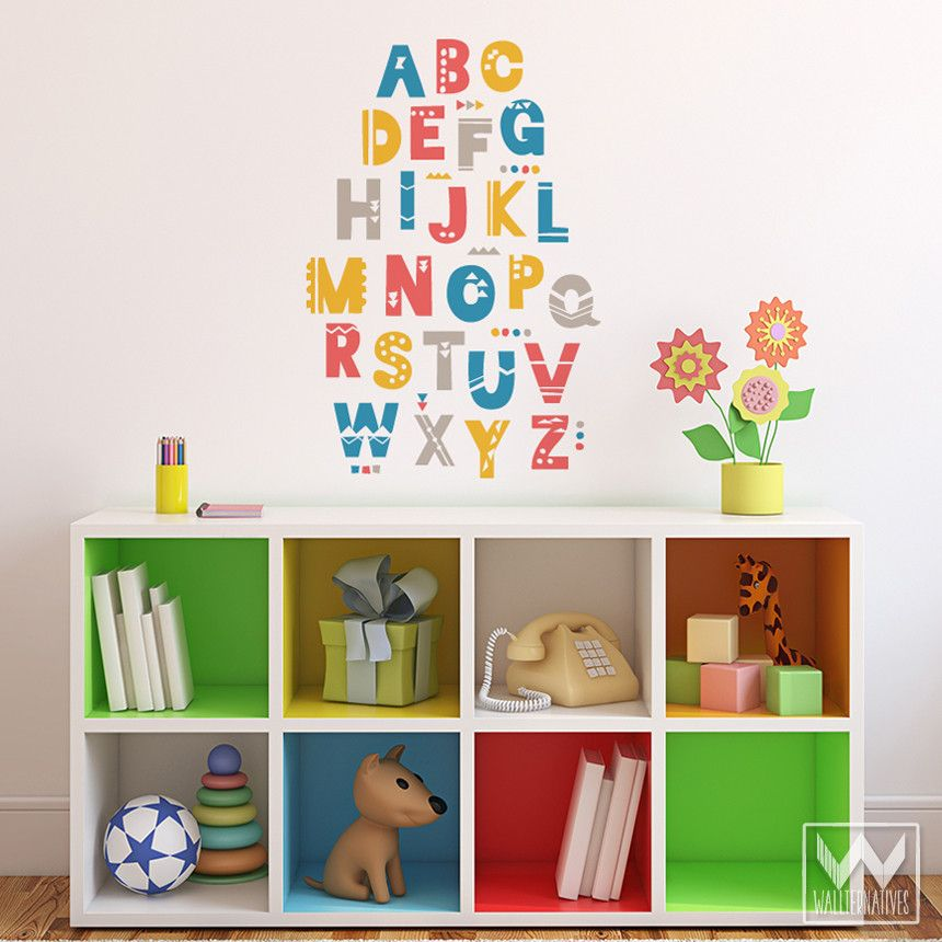 Shifting Shapes Alphabet Vinyl Wall Decal