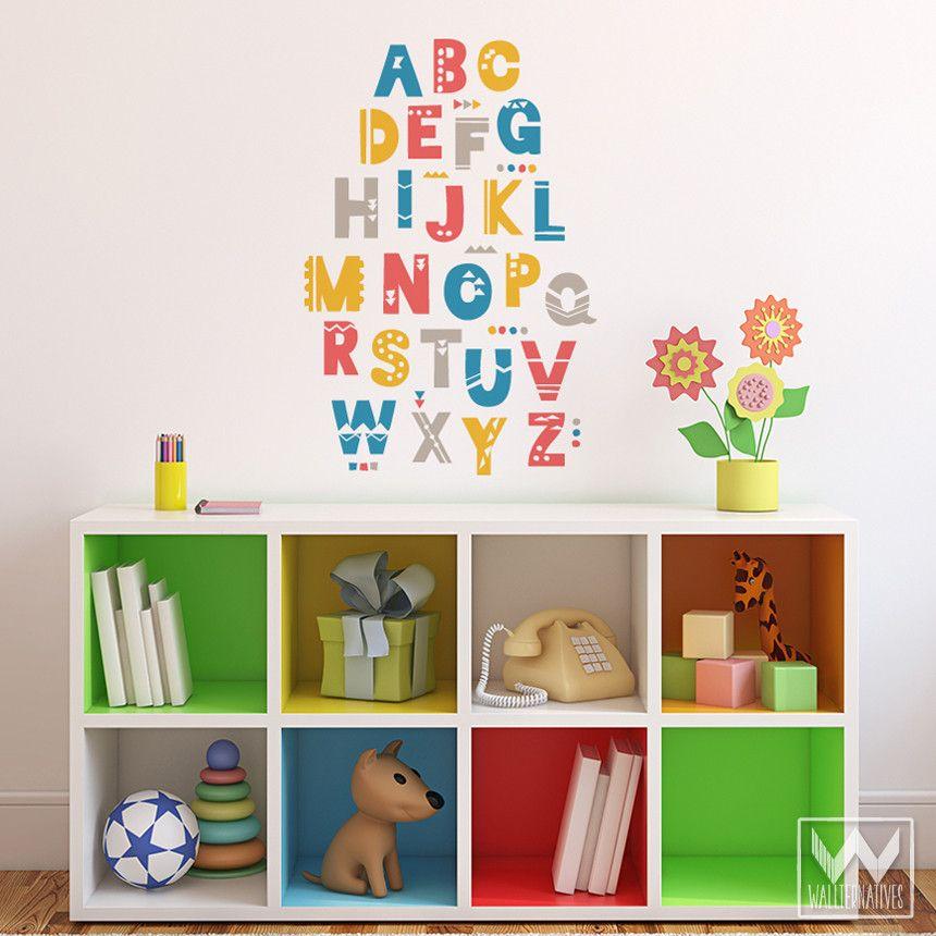 Attrayant Shifting Shapes Alphabet Vinyl Wall Decal Vinyls Shape And Products   Vinyl Wall  Decals Alphabet