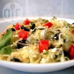 Spaghettikurbis Mit Feta Und Tomaten Rezept Essen Pinterest