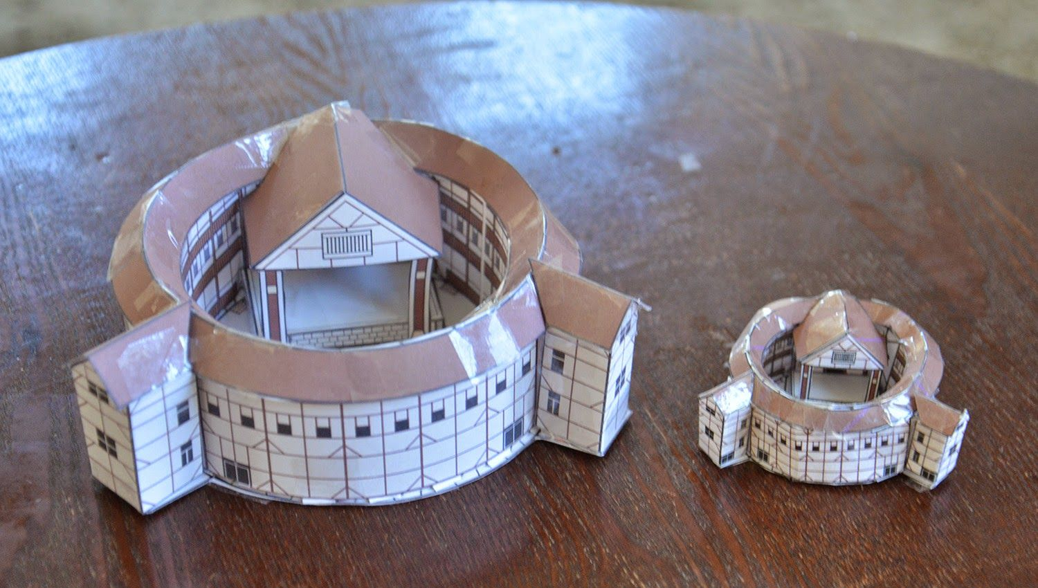 A School Of Fish Globe Theater Paper Models Shakespeare