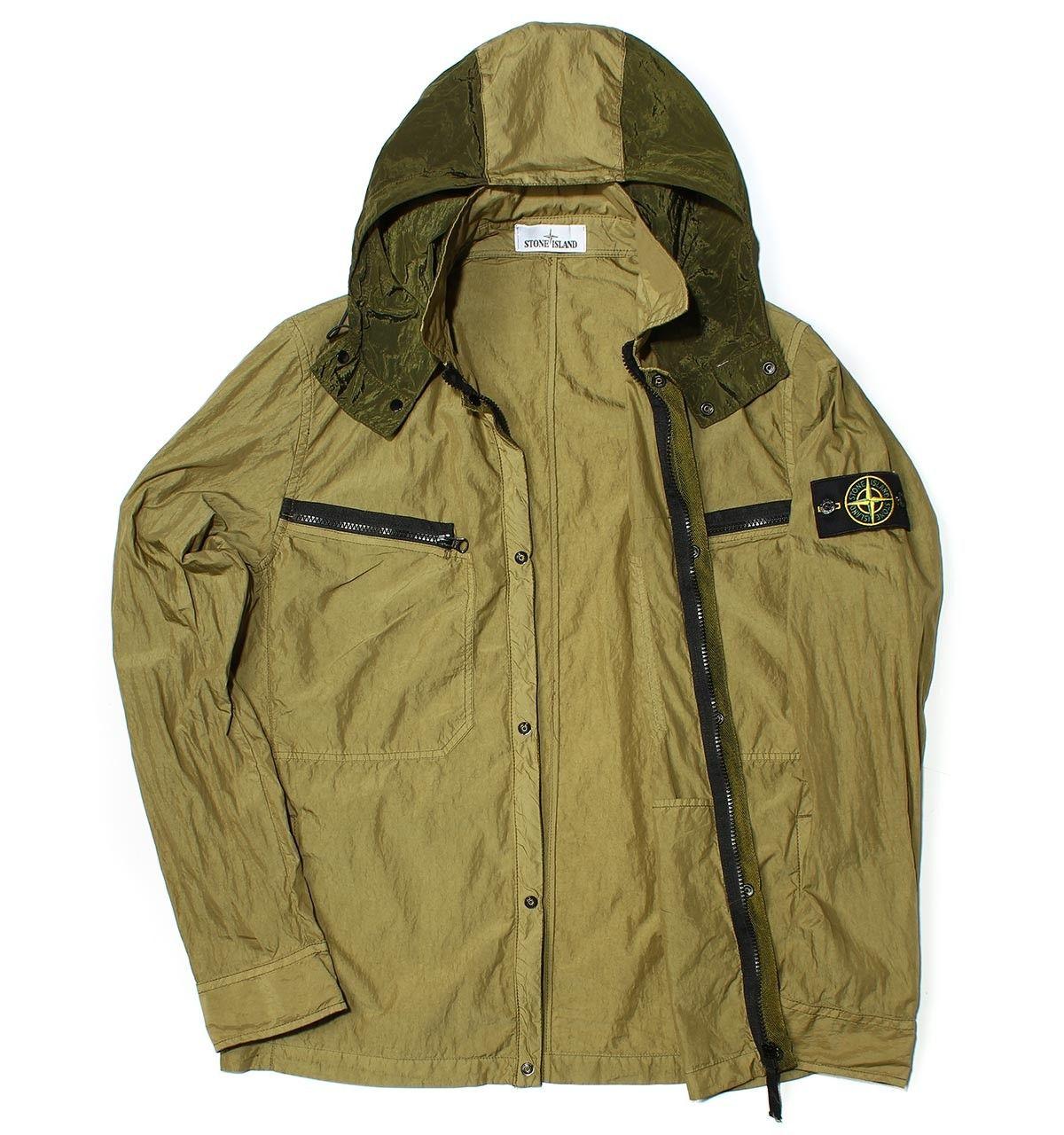 Stone Island Lightweight Poplin Olive Green Jacket #menswear ...