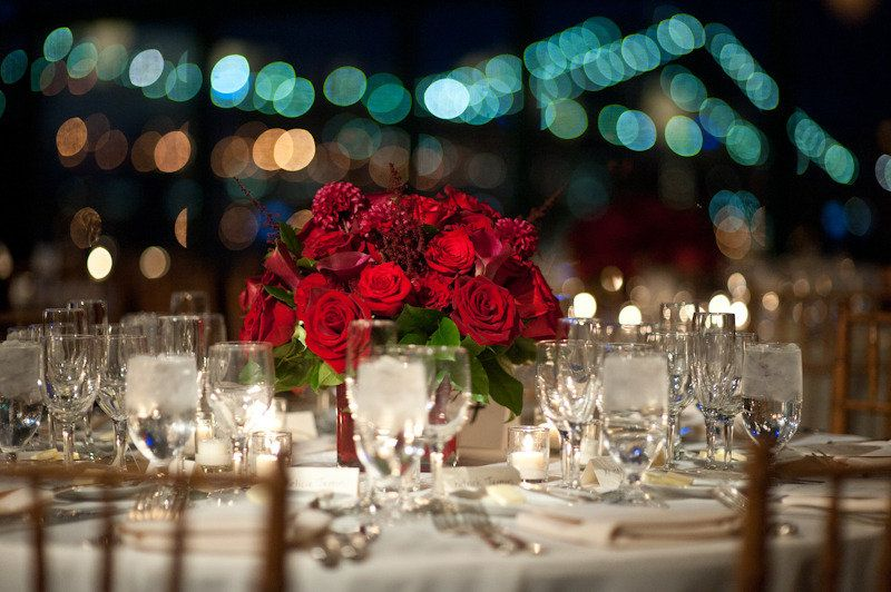Tall Red Rose Wedding Centerpieces Roses Bold