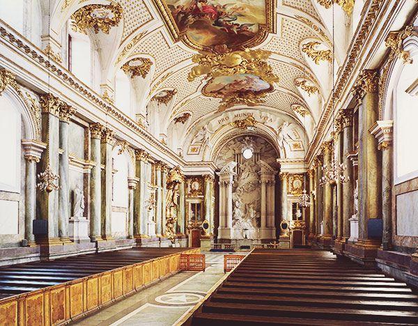 La Capilla del Palacio Real de Estocolmo, Suecia.
