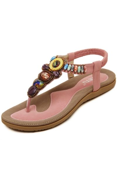 3848f15d953 ... Flip Flops Jelly For Women. Huge discount on  Fashion Pop Beaded Wedge  Sandals