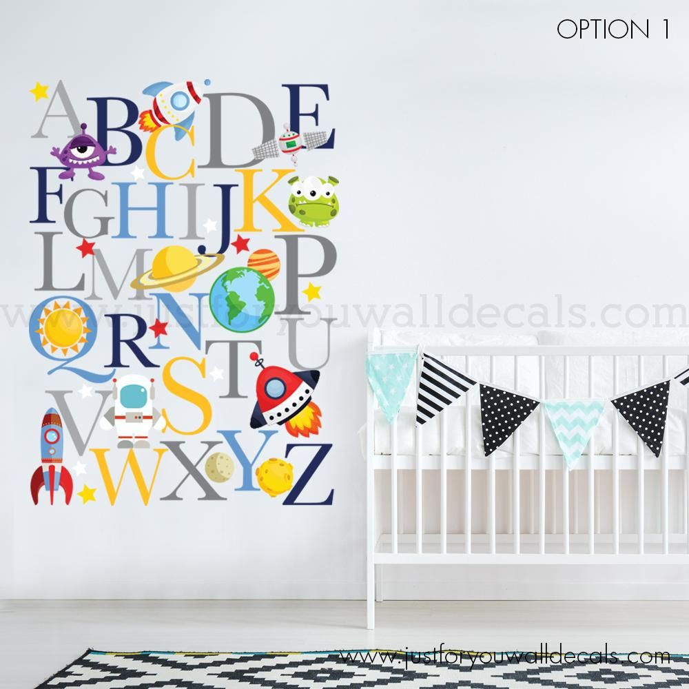 Alphabet Wall Decal Outer E In 2019