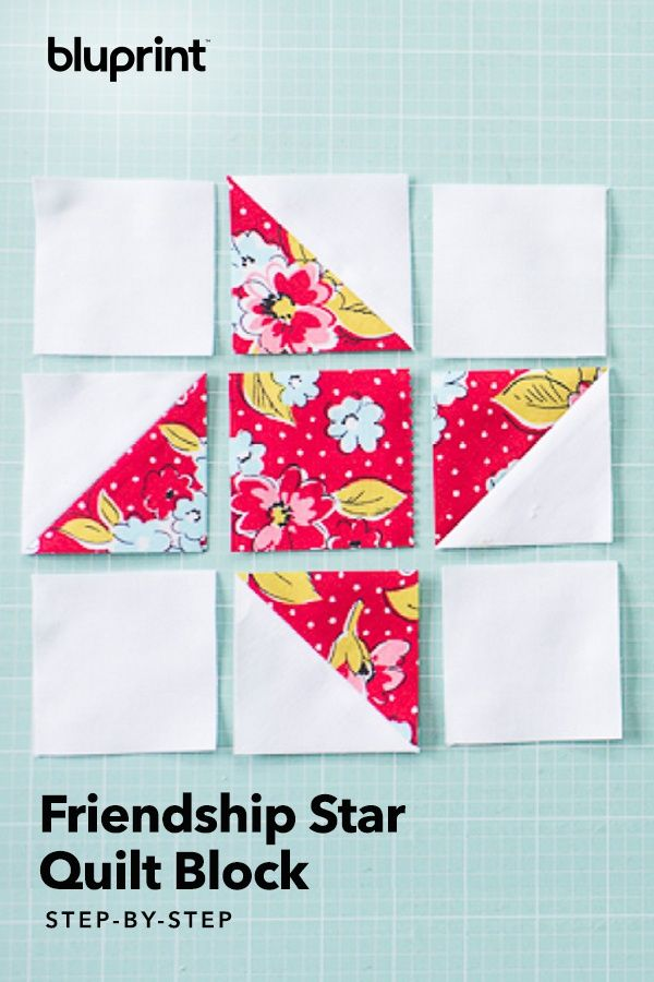 Make a Quick + Easy Friendship Star Quilt Block