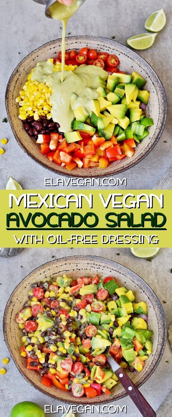 Mexican Avocado Salad #easymexicanfoodrecipes