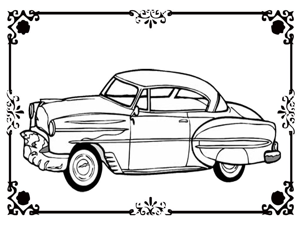 Free Printable Classic Car Coloring Kids Realistic Classic Cars Color Free Printables