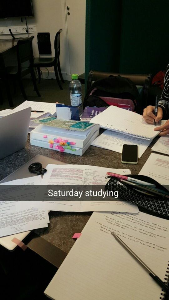 Saturday studying