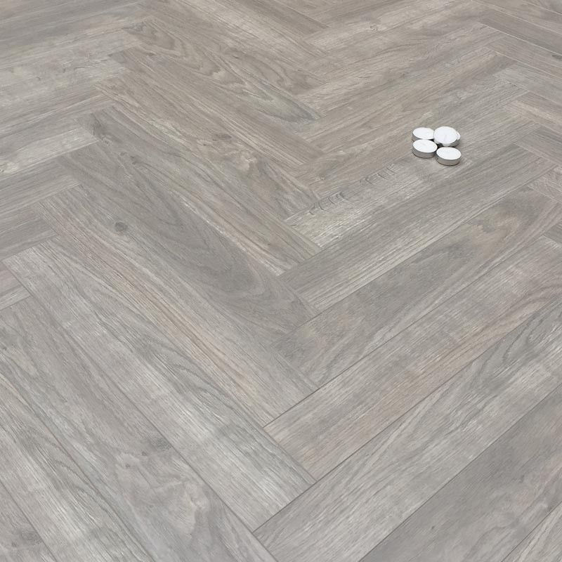 8mm Oak Grey Herringbone Laminate Floor