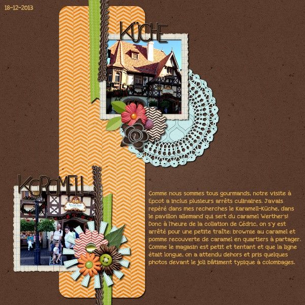 Digitale Küche | Karamell Kuche Digital Scrapbooking Layout Done With We Click And