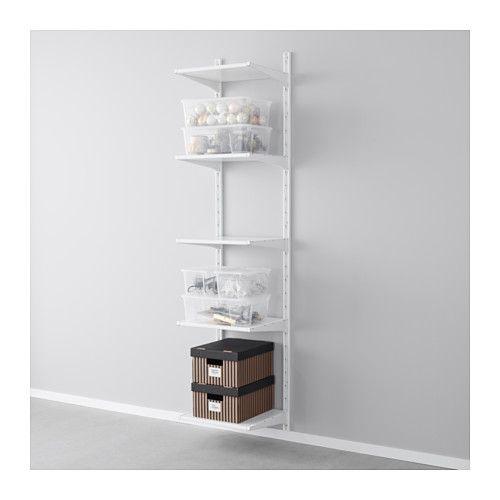 Ikea Algot White Wall Upright Shelves Shelves Ikea Shelves