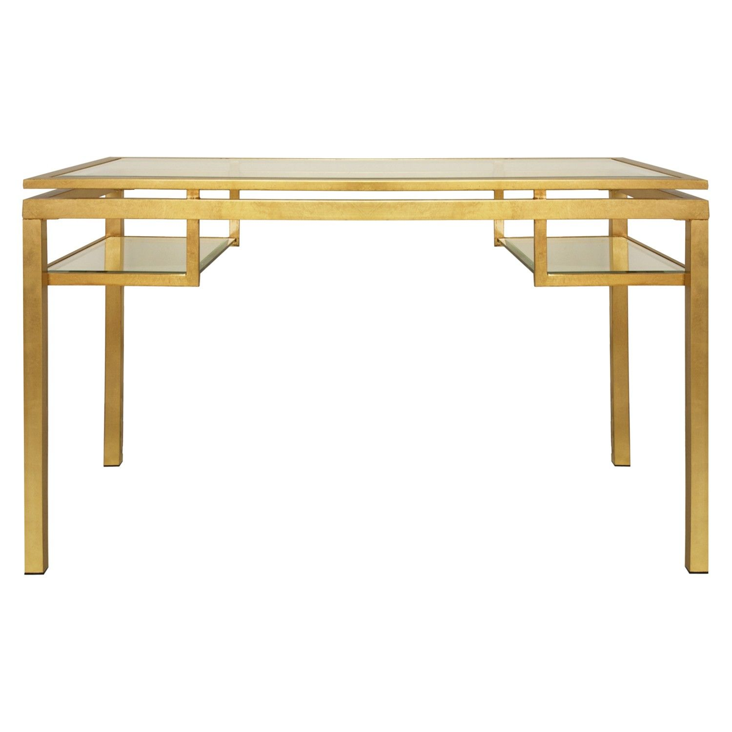 Bwood Gold Desk W 54 D 28 H 30 Gl Top 1687 50 Writing Under2k