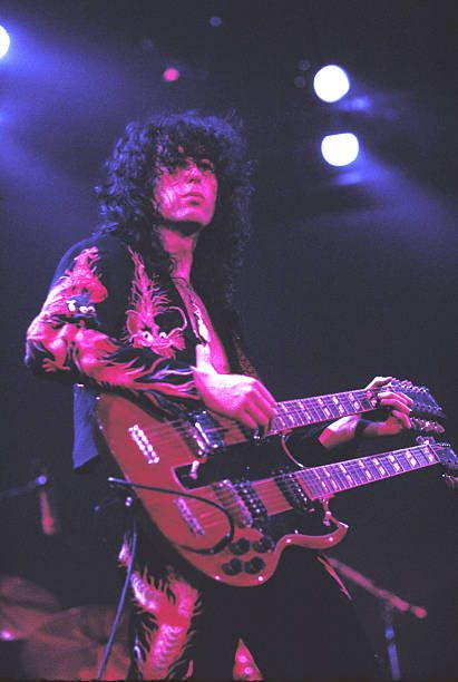 Led Zeppelin 1975 Jimmy Page during Led Zeppelin F