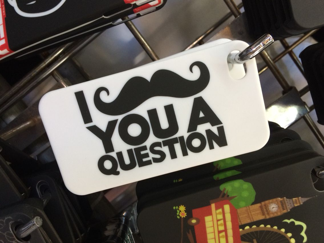 I mustache you a question iphone cover