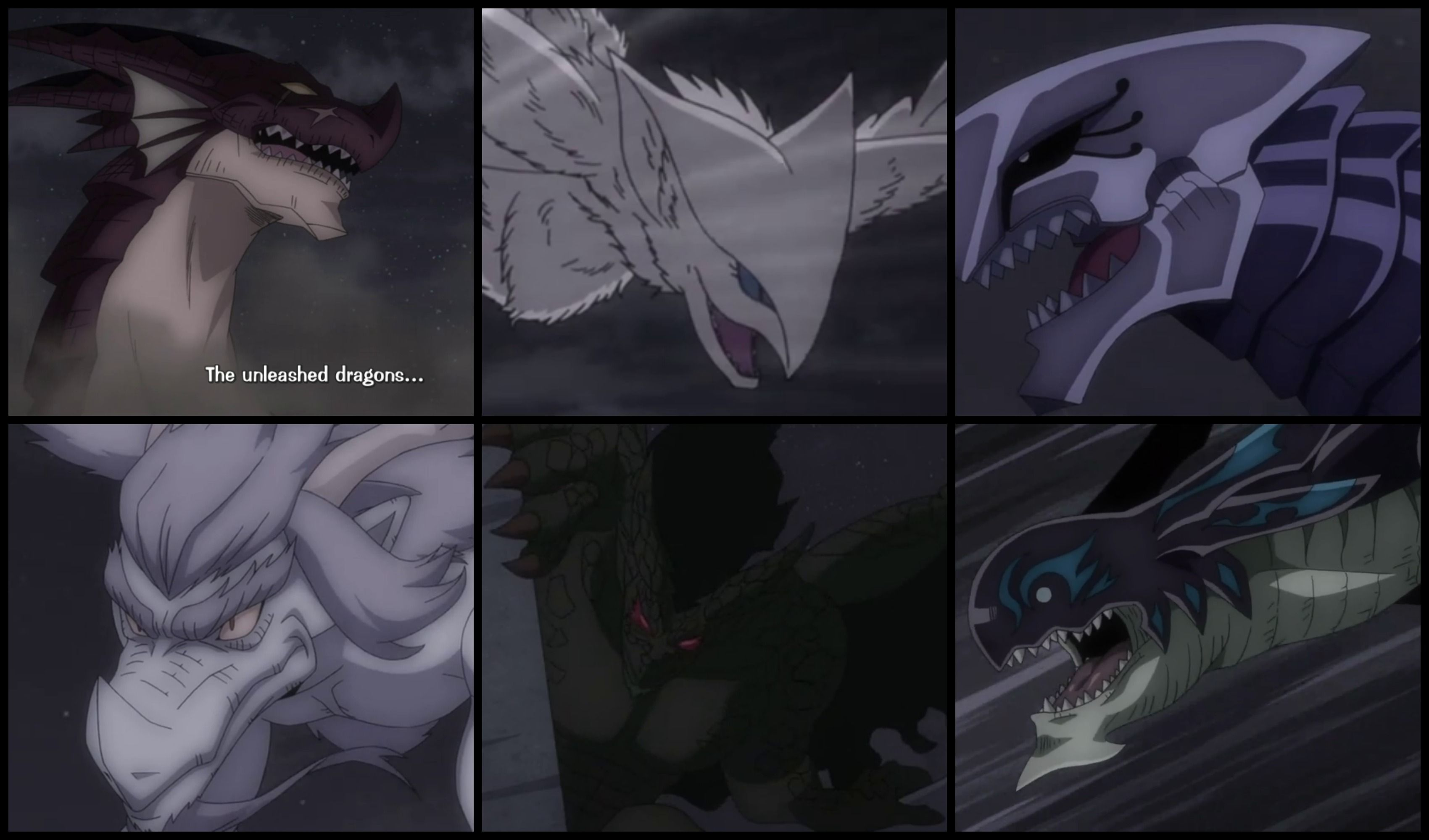The Dragons: Igneel, Grandine, Metallicana, Weisslogia ...