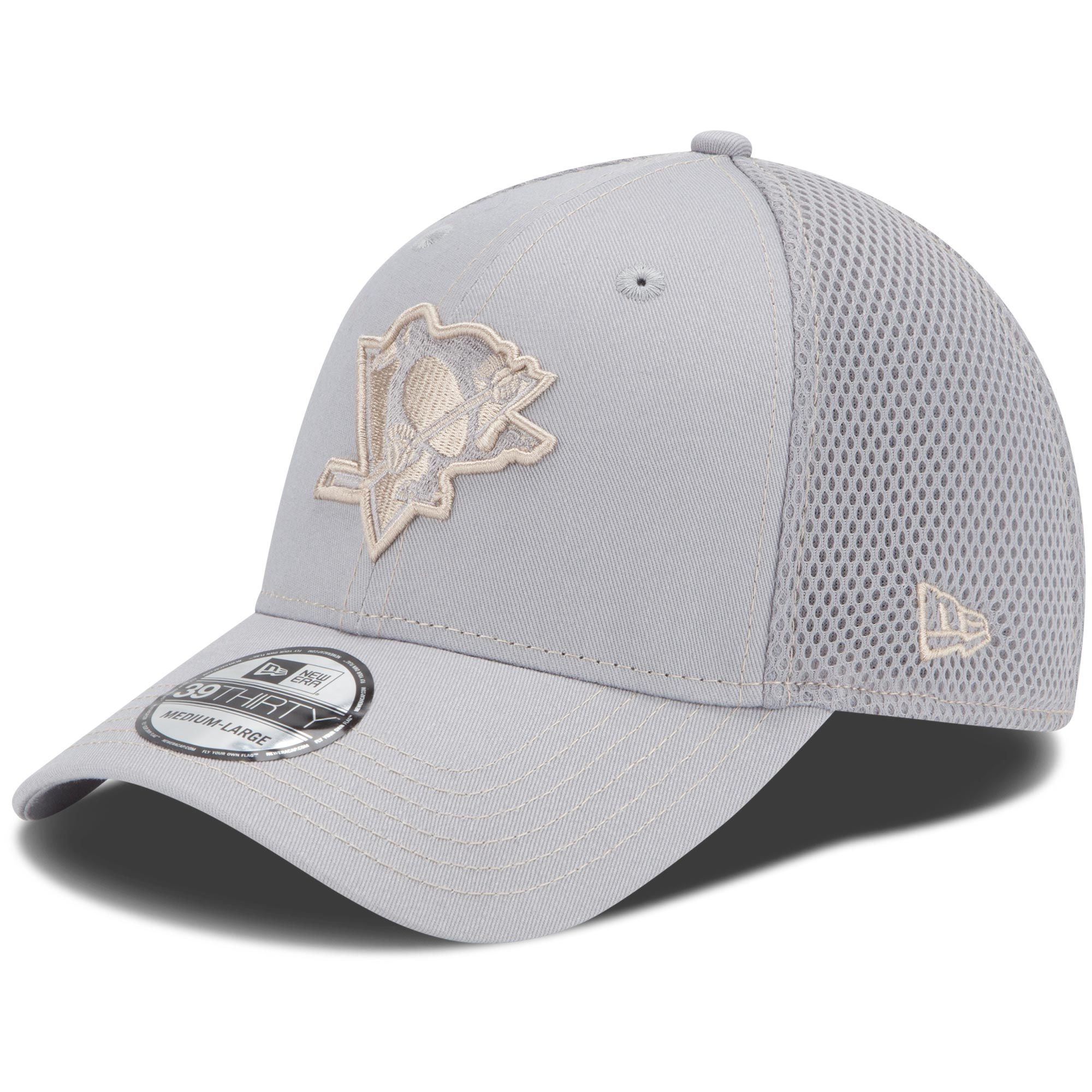 6029bd629e8 New Era Pittsburgh Penguins 39THIRTY Neo Stretch Fit Hat - Gray ...