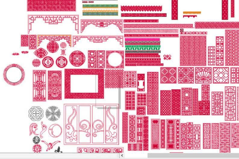 Paneli. 160 Pieces Vector dxf cdr for CNC vector file