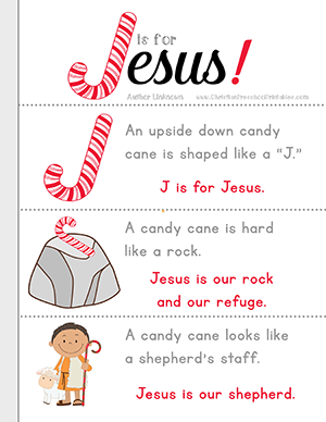 J is for Jesus Candy Cane Bible