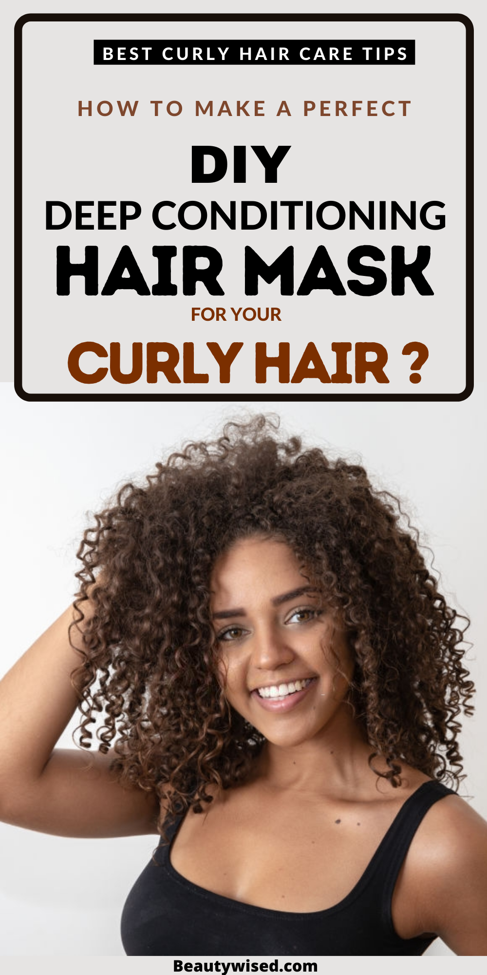 How to DIY deep condition your naturally curly hair at