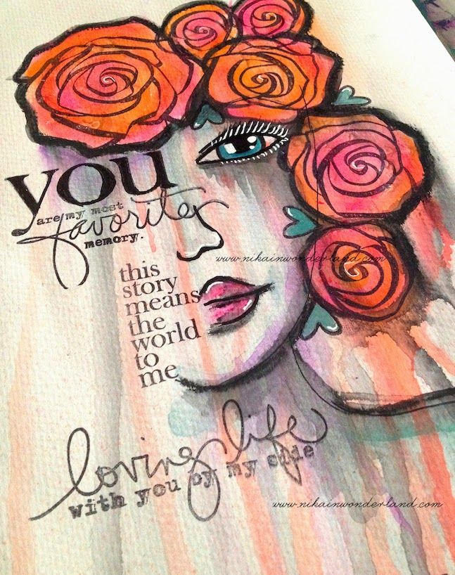 ART JOURNAL MIXED MEDIA | TWO FACED | Nika In Wonderland Art Journaling and Mixed Media Tutorials