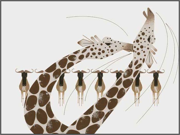 Charley Harper - Neck & Neck   Historia natural, Natural y Historia