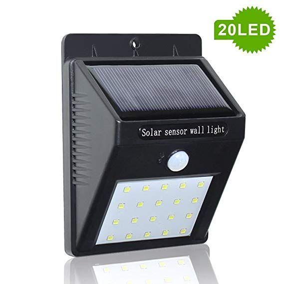 Motion Sensor Waterproof 20 Led Solar